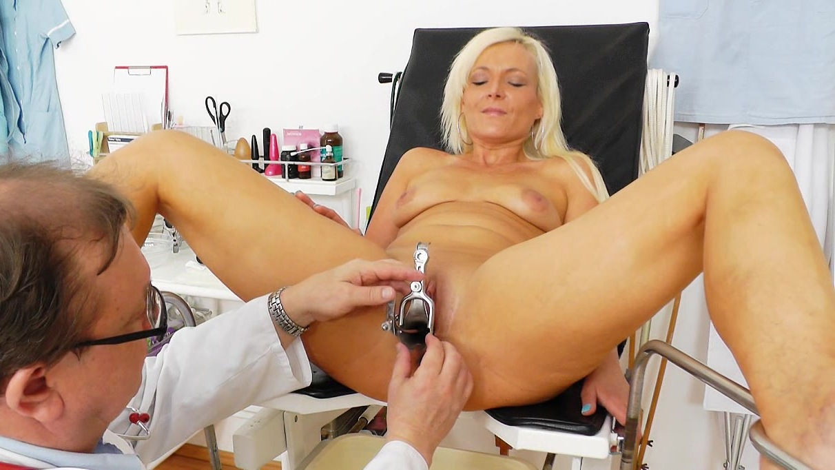 Severely Embarrassed Female Patient Led Half
