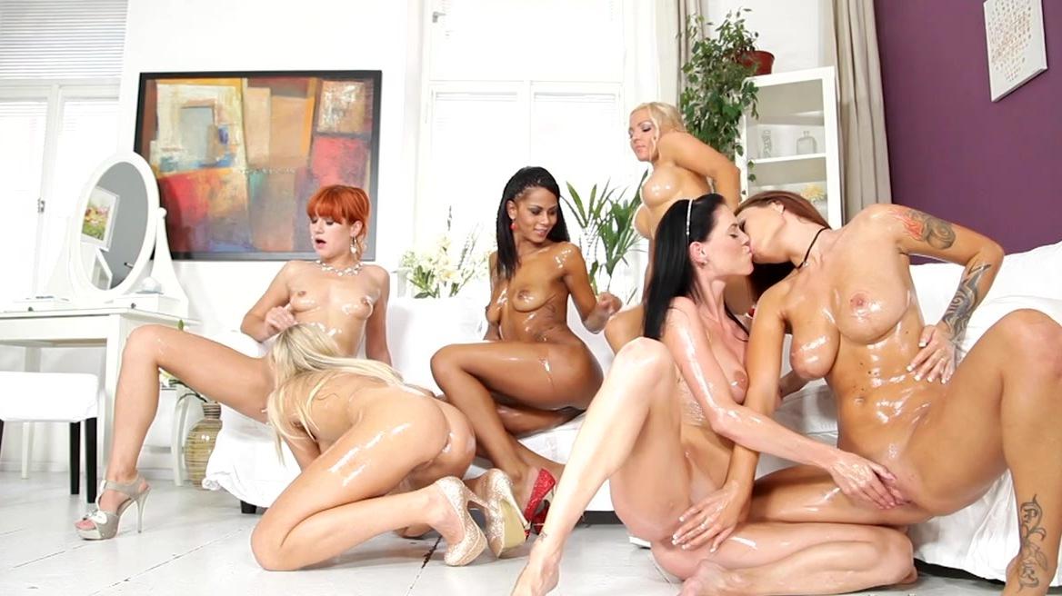 Petite girls orgy