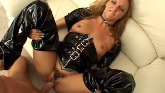 Blonde getting banged in sexy outfit, girl let me see her pussy
