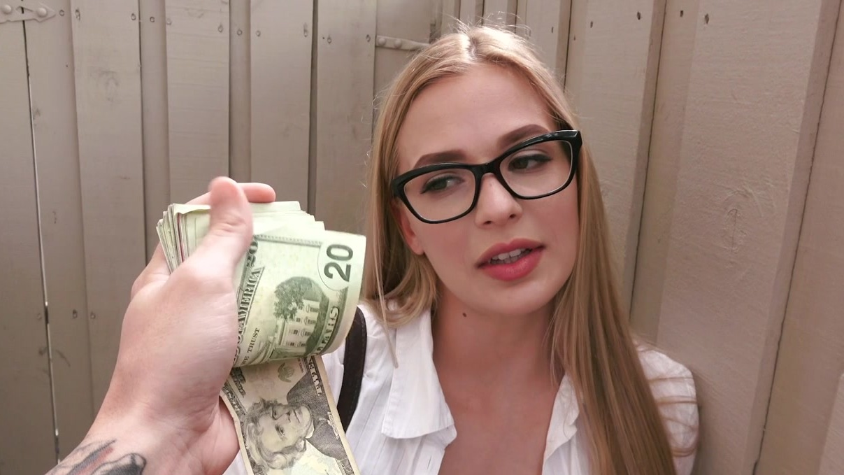 Teen With Sexy Glasses Offered Money For Sex - Hell Porno-5783
